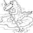 Coloriage Crocodile 29