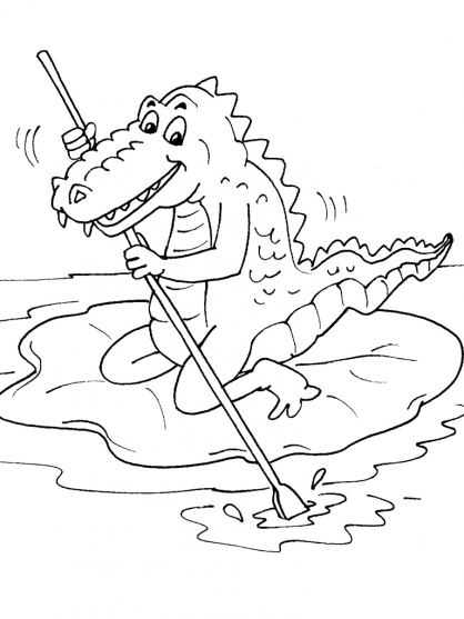 Coloriage Crocodile 29