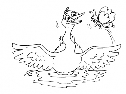 Coloriage cygne 19 coloriage cygnes coloriage animaux - Coloriage cygne ...