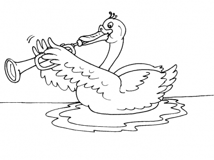 Coloriage cygne 22 coloriage cygnes coloriage animaux - Coloriage cygne ...