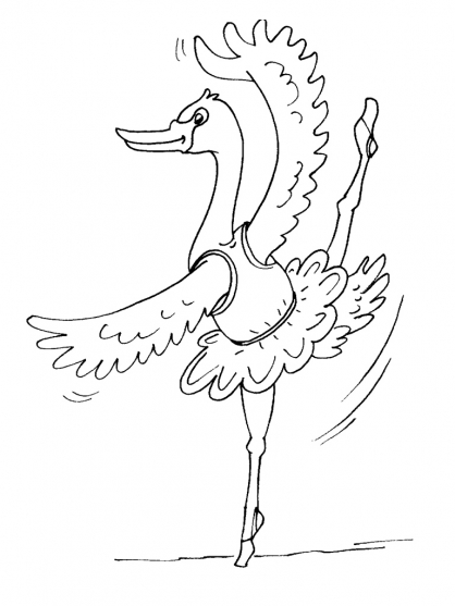 Coloriage cygne 24 coloriage cygnes coloriage animaux - Coloriage cygne ...