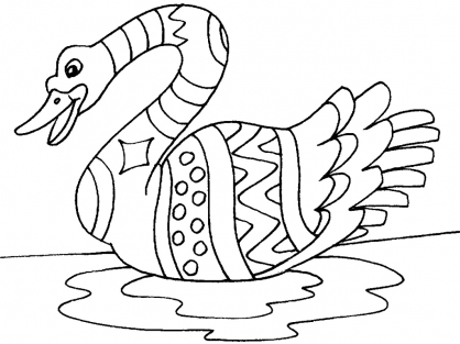 Coloriage cygne 28 coloriage cygnes coloriage animaux - Coloriage cygne ...