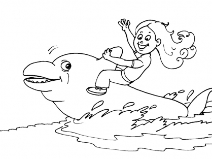Coloriage Dauphin 21