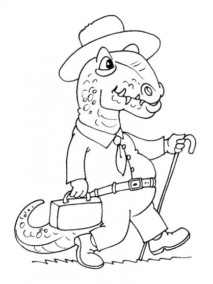 Coloriage Dinosaure : Allosaures au printemps