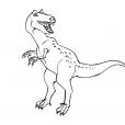 Coloriage Dinosaure : Allosaures