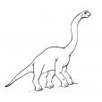 Coloriage Dinosaure : Diplodocus de profil