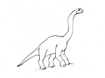 Coloriage dinosaure diplodocus de profil coloriage - Dessin diplodocus ...