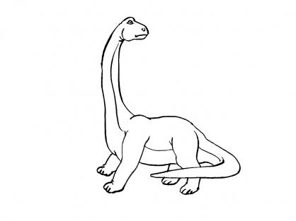 Coloriage Dinosaure : Diplodocus