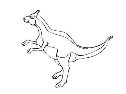 Coloriage Dinosaure : Parasaurolophus 2
