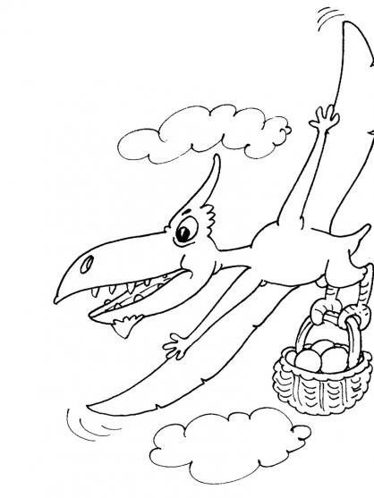 Coloriage Dinosaure : Ptérosaure