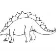 Coloriage Dinosaure : Stégosaures