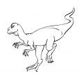 Coloriage Dinosaure : Tenontasaurus