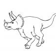 Coloriage Dinosaure : Tricéralops gueule ouverte