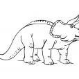 Coloriage Dinosaure : Tricéralops