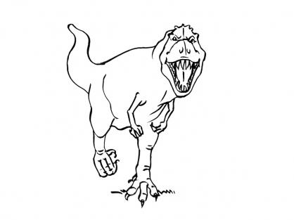 Coloriage dinosaure tyrannosaure agressif coloriage - Dessin de tyrannosaure ...