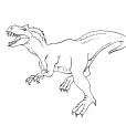 Coloriage Dinosaure : Tyrannosaure