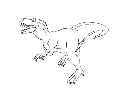Coloriage dinosaure tyrannosaure coloriage dinosaures coloriage animaux - Dinosaures dessin ...