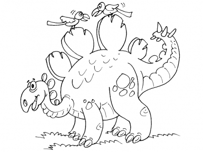 Coloriage Dinosaure : Wuerhosaurus