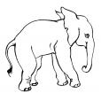 Coloriage Eléphant 1