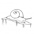 Coloriage Escargot 2