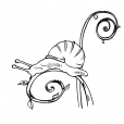 Coloriage Escargot 8