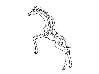 Coloriage Girafe 10
