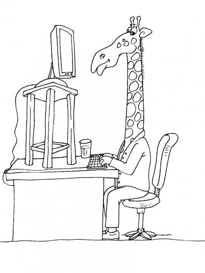 Coloriage Girafe 16