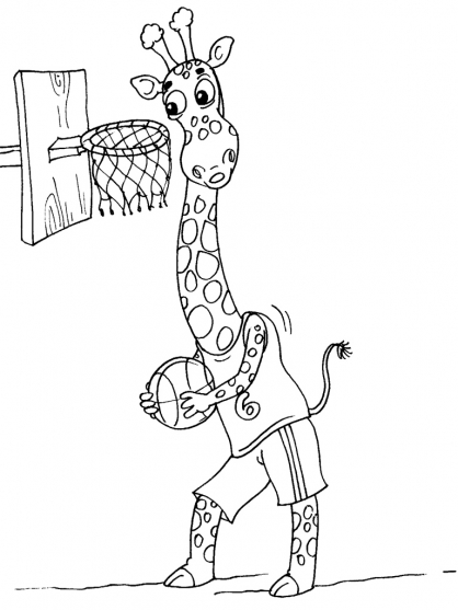 Coloriage Girafe 17