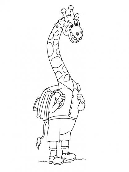 Coloriage Girafe 18