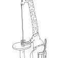 Coloriage Girafe 19