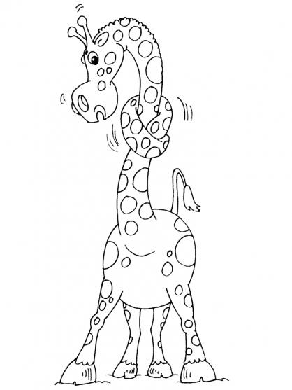 Coloriage Girafe 20