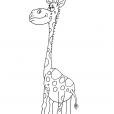 Coloriage Girafe 23