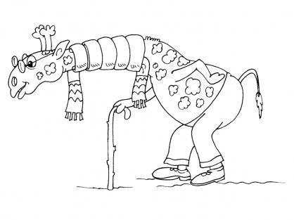 Coloriage Girafe 25