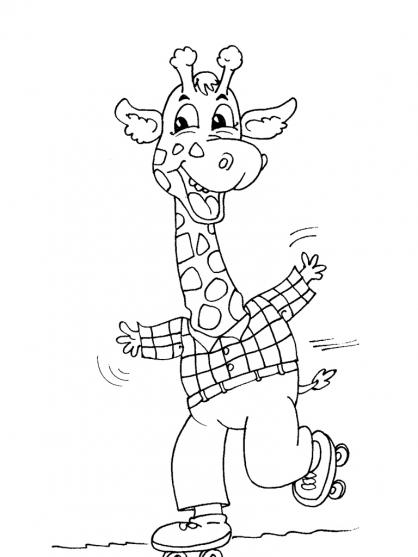 Coloriage Girafe 26