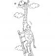 Coloriage Girafe 28