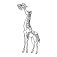Coloriage Girafe 8