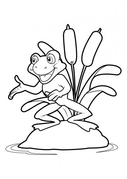 Coloriage Grenouille 19