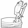 Coloriage Grenouille 9