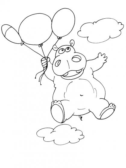 Coloriage Hippopotame 21