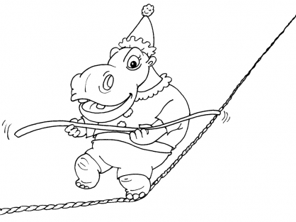 Coloriage Hippopotame 22