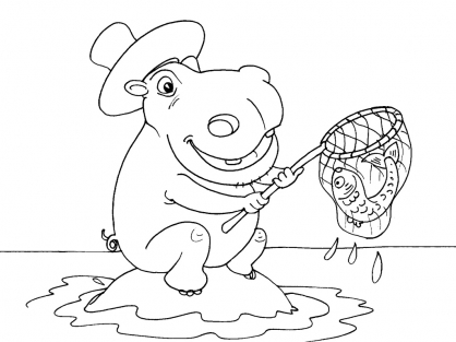 Coloriage Hippopotame 25