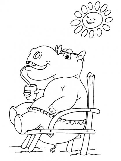 Coloriage Hippopotame 27