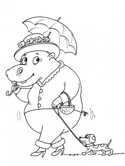 Coloriage Hippopotame 30