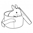 Coloriage Lapin 12