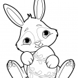 Coloriage Lapin 18
