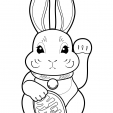 Coloriage Lapin 19