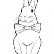 Coloriage Lapin 9