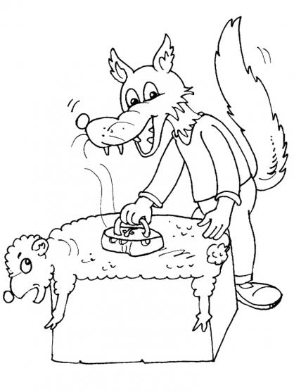 Coloriage Loup 16