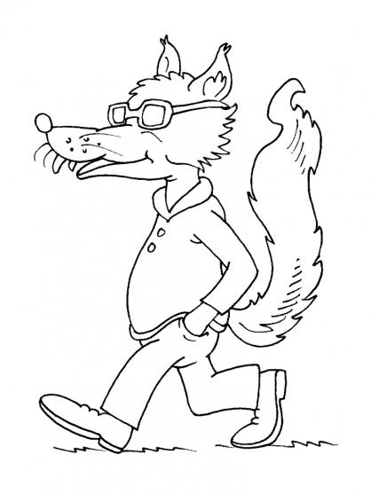 Coloriage Loup 25