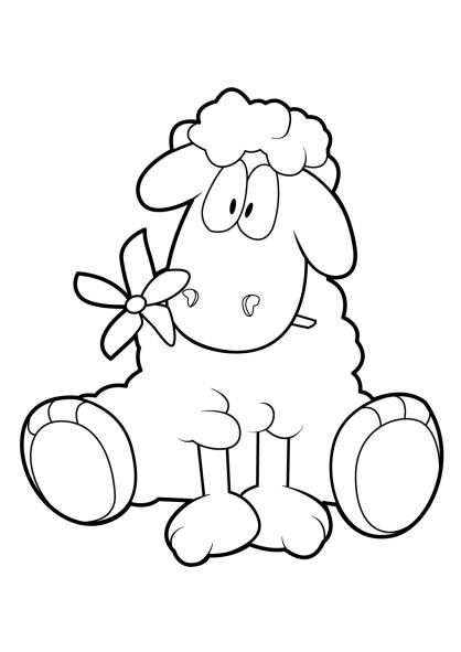 Coloriage Mouton 18